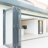 Double glazed bifold doors Everglade Windows