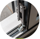 three threshold options on aluminium bifolding doors