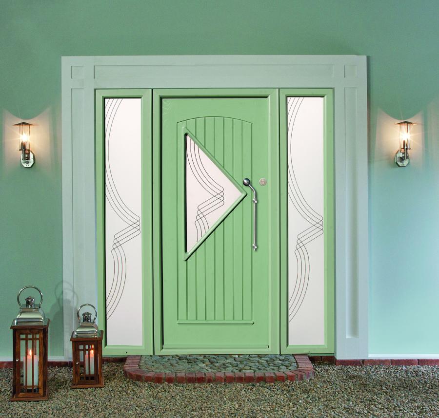 Green Palladio Composite Door Brent