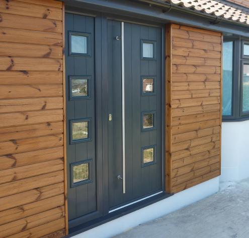 solidor composite entrance doors for Brent homes